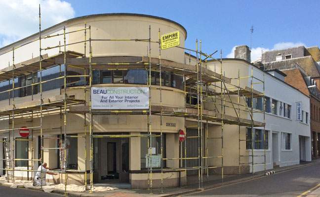 Commercial building refurbishment in Jersey